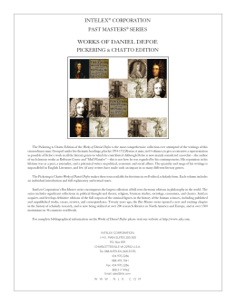 works of daniel defoe - InteLex Past Masters