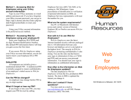 Web for Employees - Human Resources