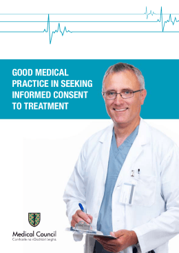 good medical practice in seeking informed consent to treatment