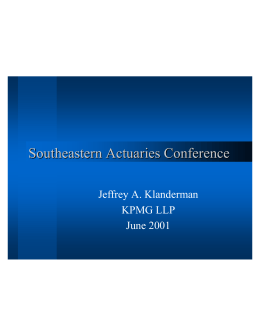 Life Insurance - Southeastern Actuaries Conference