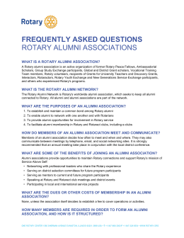 frequently asked questions rotary alumni associations