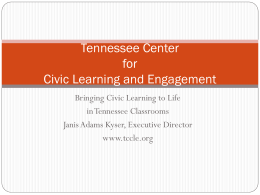 Tennessee Center for Civic Learning and Engagement