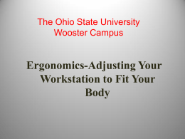 Ergonomics - OARDC - The Ohio State University