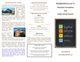 robbinsville`s - Robbinsville Education Foundation