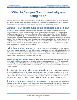 """What is Campus ToolKit and why am I doing it???"""