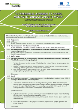 Agenda of the conference