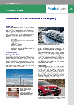 Introduction to Fibre Reinforced Plastics (FRP)
