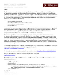 AGSM Graduate Informational Letter