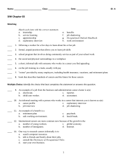 SIW Chapter 03 Study Guide