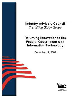 Returning Innovation to the Federal Government with Informat