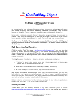 Availability Digest