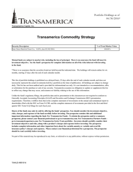 Transamerica Commodity Strategy