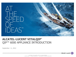 QIP 6000 - Alcatel-Lucent Enterprise