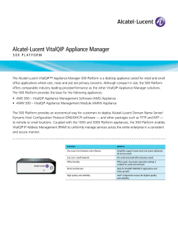 Alcatel-Lucent VitalQIP Appliance Manager