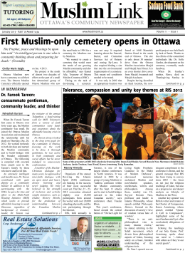 First Muslim-only cemetery opens in Ottawa