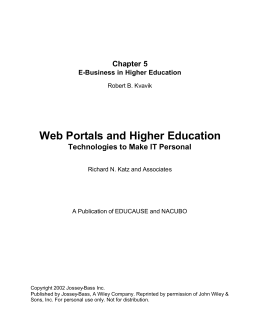 E-Business in Higher Education