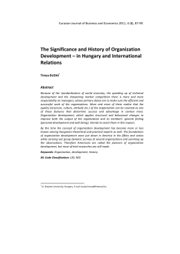 The Significance and History of Organization Development – in
