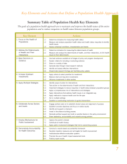 Key Elements and Actions that Define a Population Health Approach