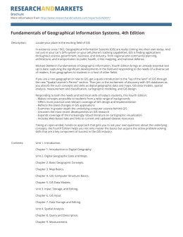 Fundamentals of Geographical Information Systems. 4th Edition