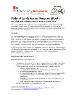 Federal Lands Access Program (FLAP)
