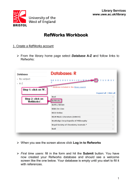 step-by-step guide to RefWorks