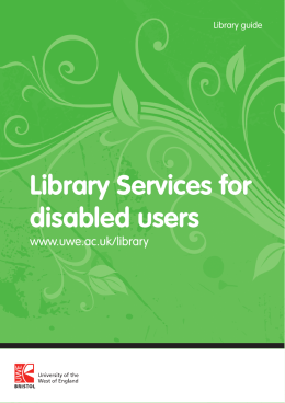 Library Services for disabled users