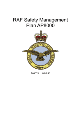 RAF Safety Management Plan AP8000