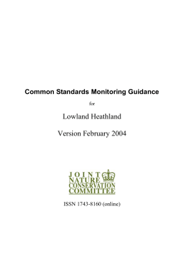 Common Standards Monitoring guidance for Lowland