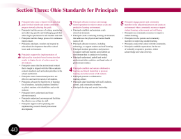Standards for Principals - Ohio Department of Education