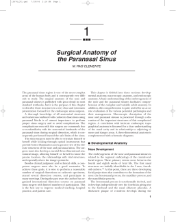 Surgical Anatomy of the Paranasal Sinus