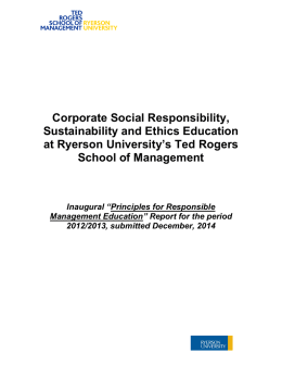 Corporate Social Responsibility, Sustainability and Ethics Education