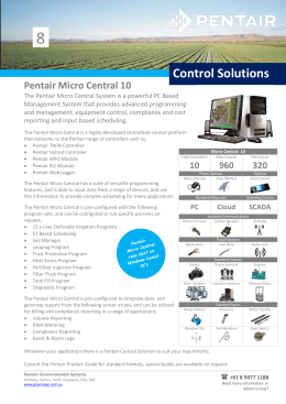 Control Solutions - Pentair Environmental Systems