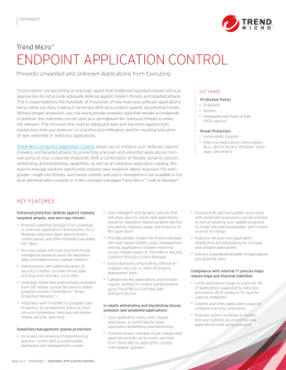 Endpoint Application Control