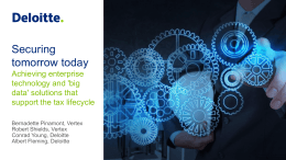 Securing tomorrow today: Achieving enterprise technology