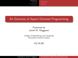An Overview of Aspect-Oriented Programming