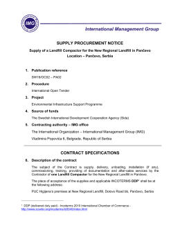 Procurement notice