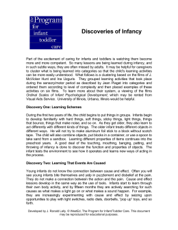 Discoveries of Infancy pdf.