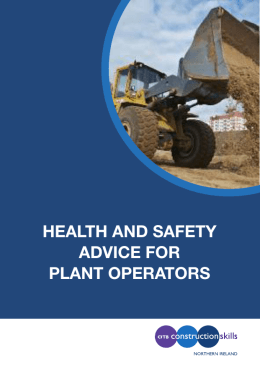 health and safety advice for plant operators