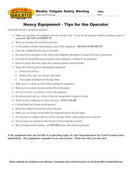 Heavy Equipment Tips for the Operator.pmd