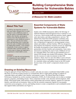 Building Comprehensive State Systems for Vulnerable
