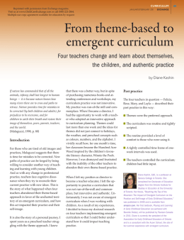 From Theme to Emergent Curriculum