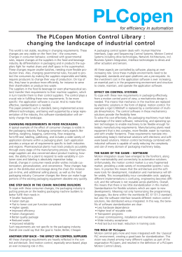 Changing the landscape of industrial control