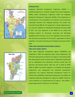 best practices of watershed works in tamilnadu under iwmp