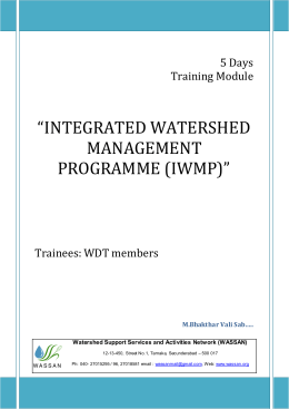 integrated watershed management programme (iwmp)