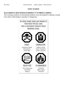 Safety Symbols HAZARDOUS HOUSEHOLD PRODUCT