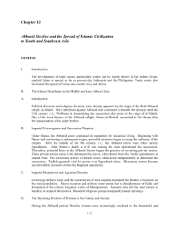 Chapter 12 Abbasid Decline and the Spread of Islamic Civilization to