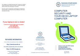 COMPUTER SECURITY AND YOUR DECD LAPTOP COMPUTER