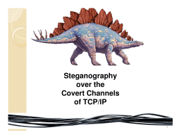Steganography over the Covert Channels of TCP/IP