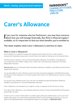 Carer`s Allowance