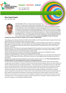 Ram Gopal Gupta - India Association Congress 2016